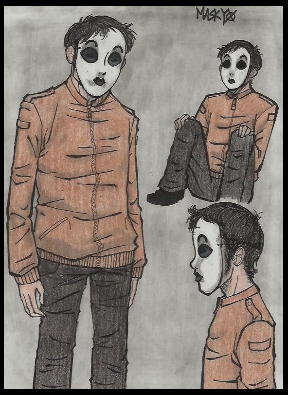 Slender Man Masky and Hoodie