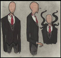 18th Cent slender doodles by Cageyshick05