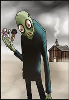 Salad Fingers and puppet friends by Cageyshick05