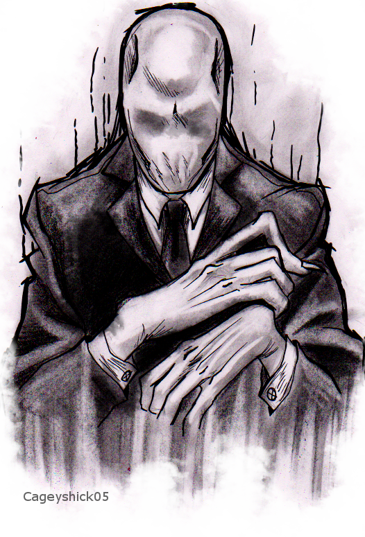 SlenderMan tattoo design - TAKEN ALREADY XD - by Cageyshick05