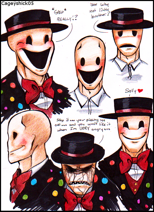 Splendorman expression doodles by Cageyshick05
