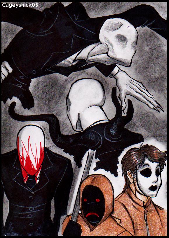 Slenderman doodles -8- by Cageyshick05