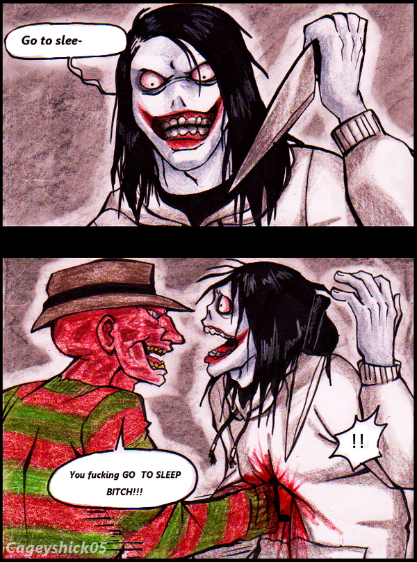 Jeff vs Freddy -comic- by Cageyshick05Jeff The Killer Vs Freddy Krueger