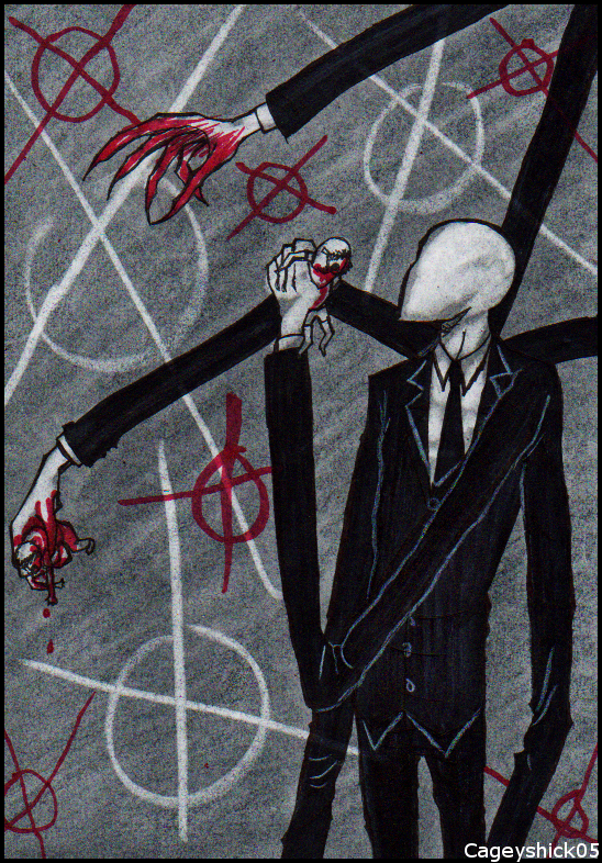 Slenderman doodle by Cageyshick05