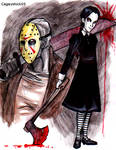 Jason and Wednesday doodles