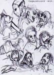 Jeff the Killer vs The serial killers -Sketch-