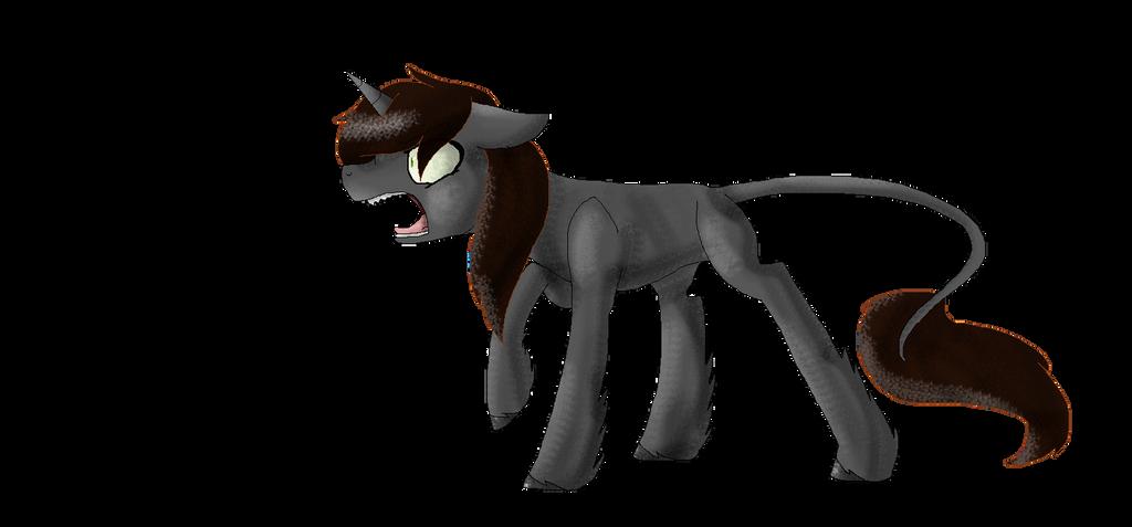 pony goes roar by ZashaChan