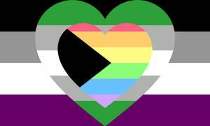 Asexual grey-aromantic demi-homosensual combo flag
