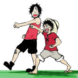 One Piece Luffy and Ace