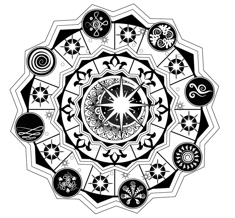 Cosmic Mandala by Cassiopeia-Dono