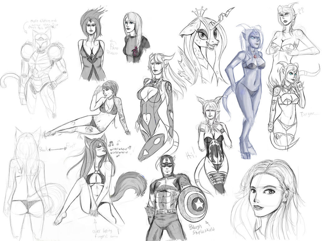 RaptorART sketch page 5 by raptor007