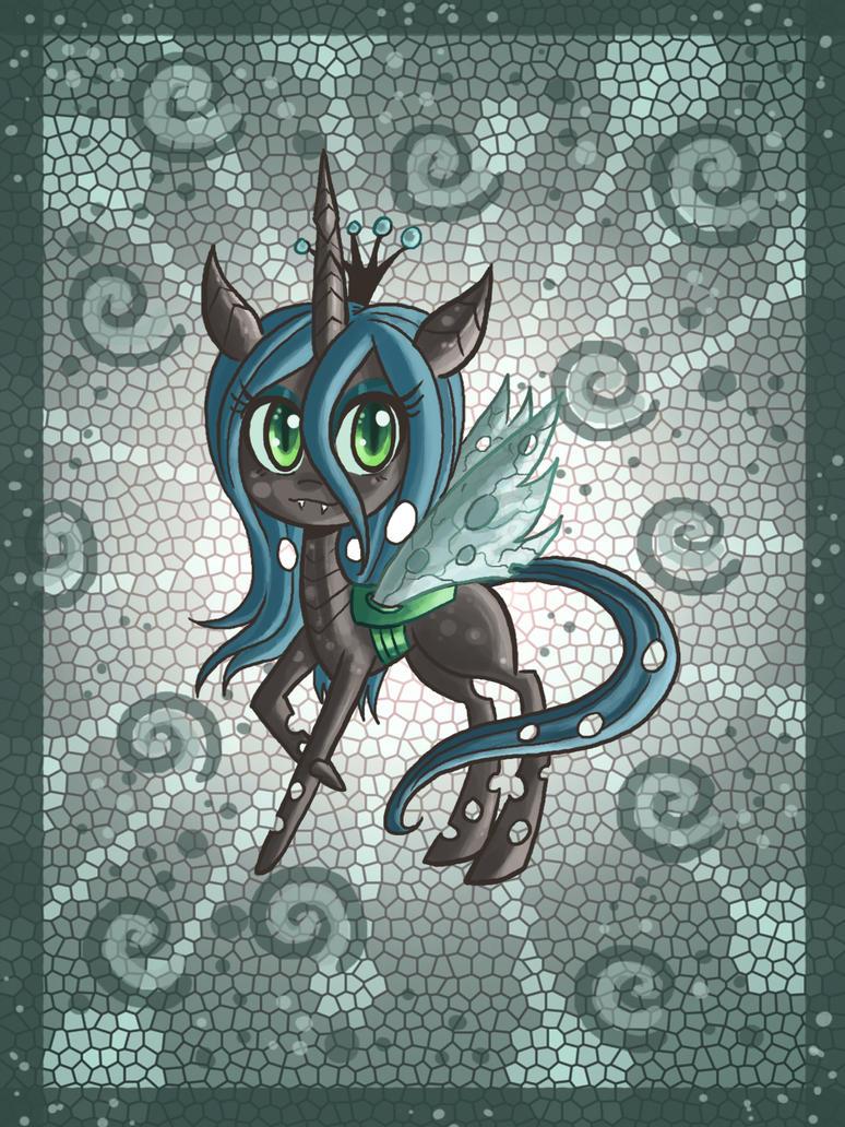 Chibi Chrysalis pony by raptor007