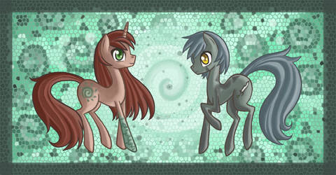 Kitsu and Kara Ponies by raptor007