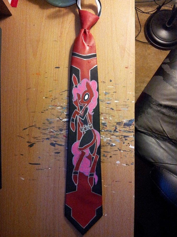 pinkiepie deadpool tie by raptor007 on deviantart