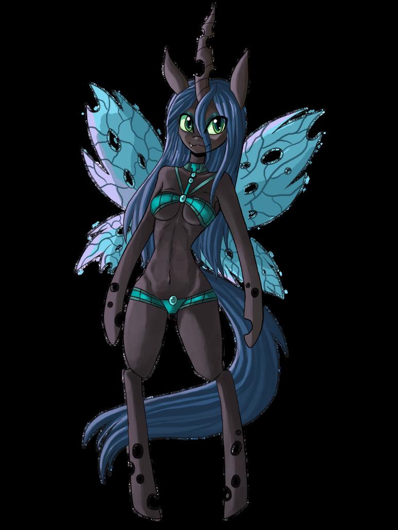 Ultimate Anthro Chrysalis Bikini by raptor007