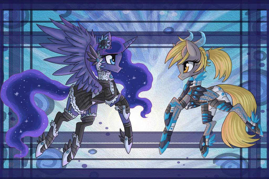 Gothic Luna Cyber Demon Derpy by raptor007