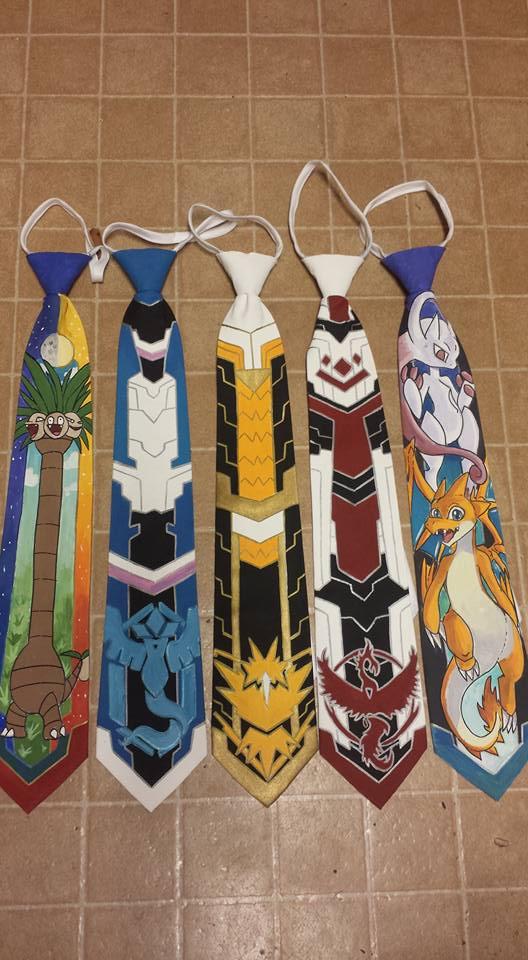 POkemon zipper ties by raptor007