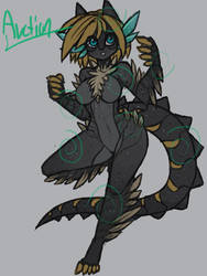 yellow stinger dragon by raptor007