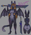 Blue stripe demon cat ADOPT by raptor007