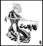 kabuki scarab bw by CRISTIAN-SANTOS