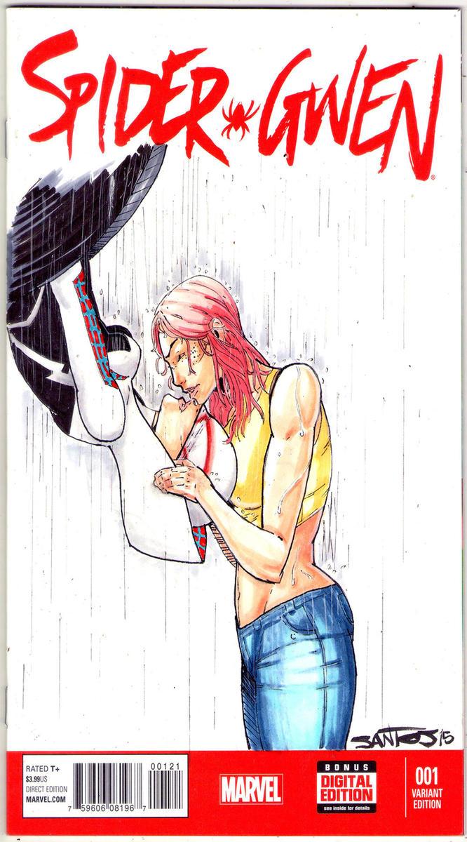Spider-Gwen sketch cover by CRISTIAN-SANTOS