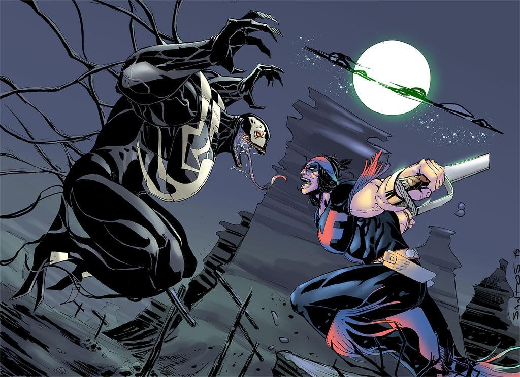 Thunderbird vs Venom by CRISTIAN-SANTOS