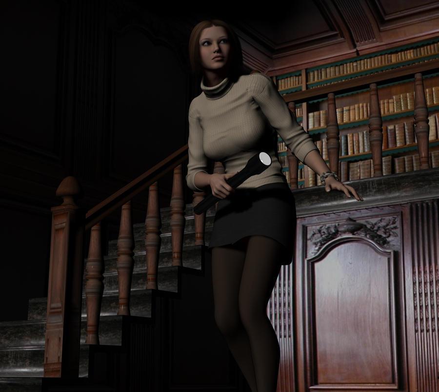 Amanda sneaking around by Torqual3D