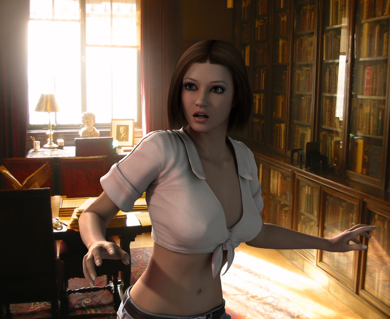 Amanda Jones - Caught Snooping Around by Torqual3D