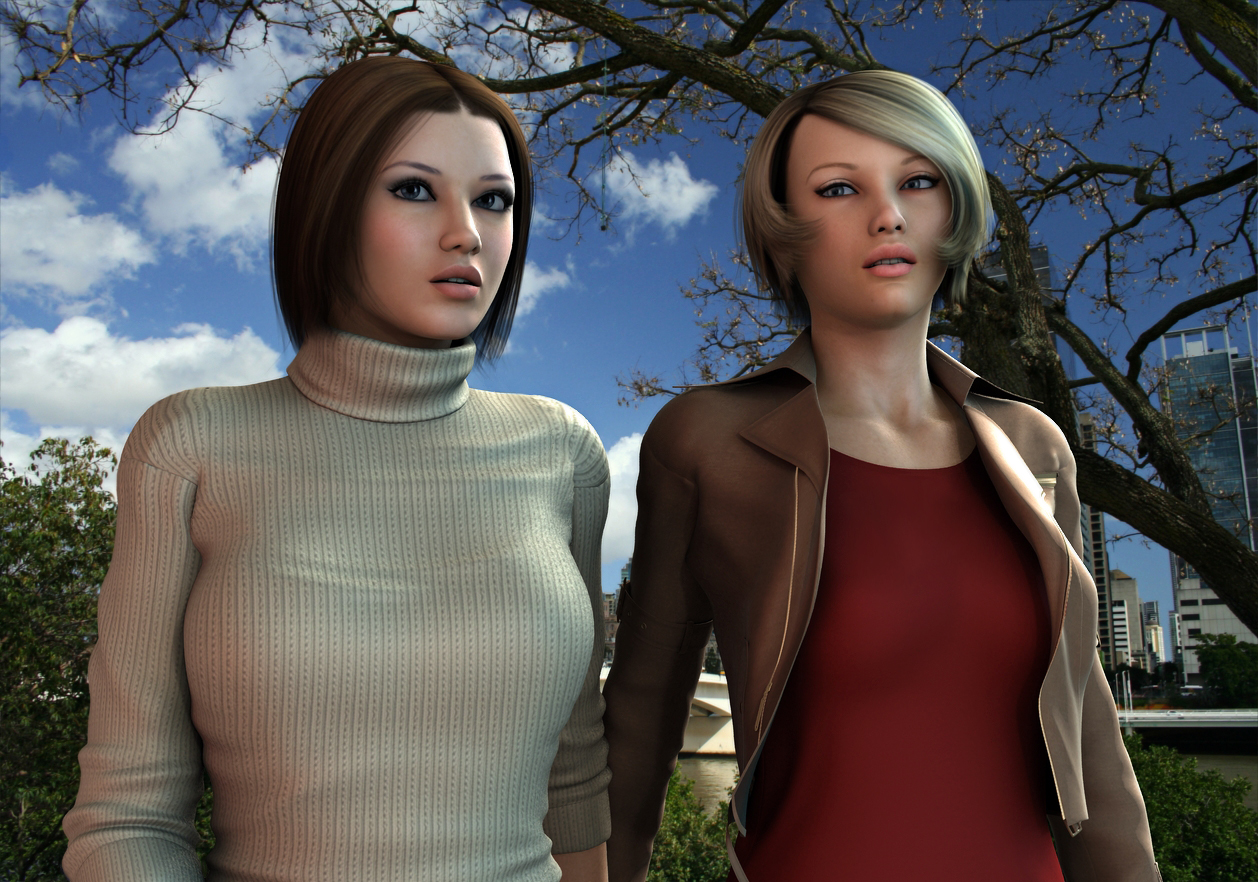 Amanda and Rachel Meet Outside by Torqual3D