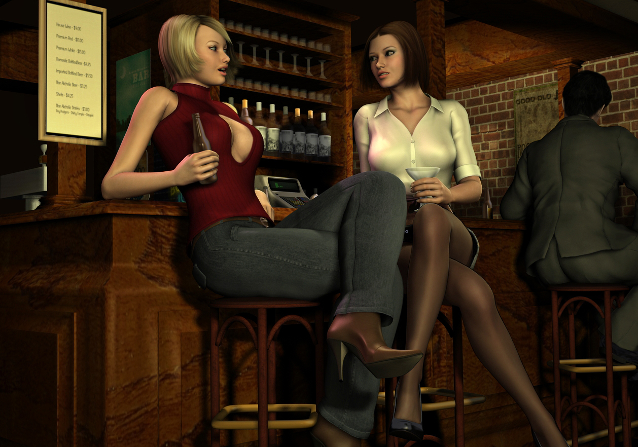 Rachel and Amanda at Sam's Bar by Torqual3D