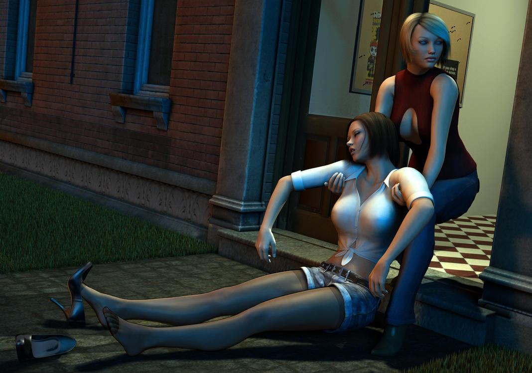 Rachel drags Amanda inside by Torqual3D