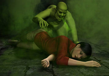 Ciara's Dungeon Nightmare - The Green Monster by Torqual3D