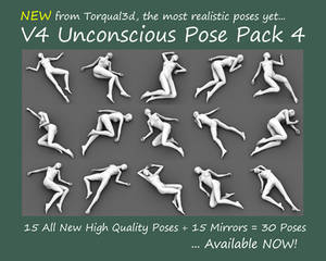 V4 Unconscious Pose Pack 4 Now Available