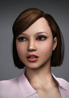 Young Amanda Portrait by Torqual3D