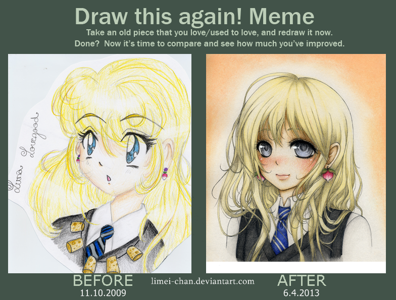 Draw this again - Luna Lovegood (Harry Potter) by Limei-chan