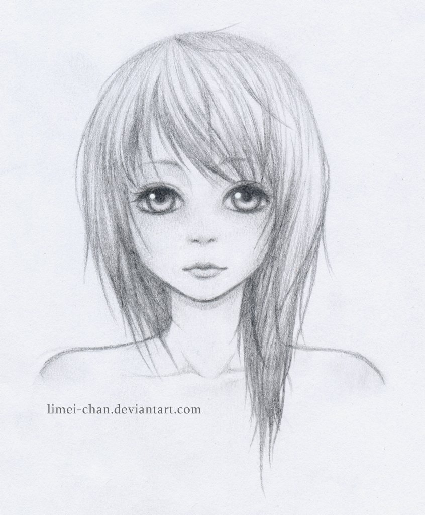 how to draw a realistic anime girl