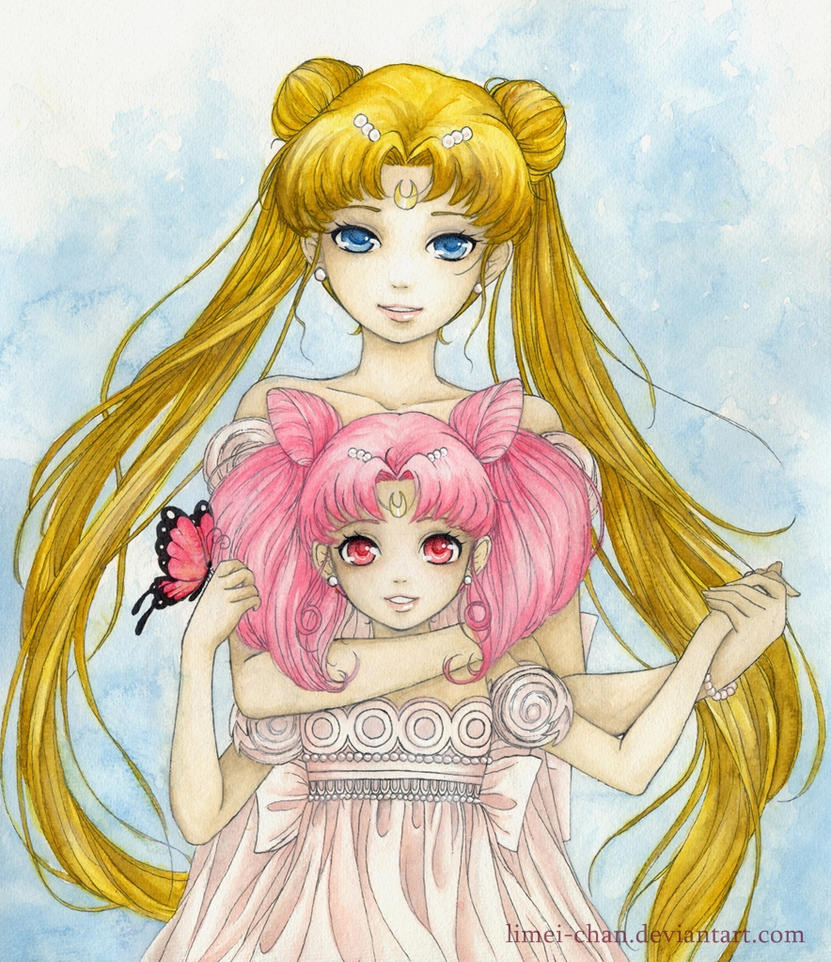 Princess Serenity and Princess Small Lady Serenity by Limei-chan