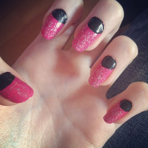 Pink and black glitter nail art by hey sarah sarah on deviantart pink and black glitter nail art by hey sarah sarah prinsesfo Images