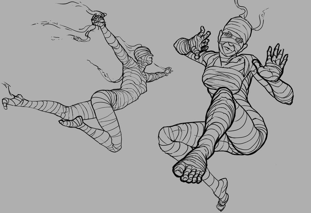 Foreshortening Practice - Action Mummies by Fuzzybunikins on ...