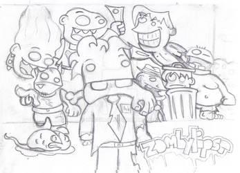 Zombilypse 'sketch' by Luiguiman