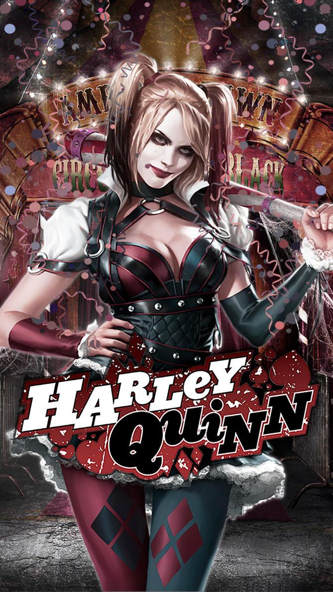 Harley Quinn Arkham Knight (logo) by JPGraphic on DeviantArt