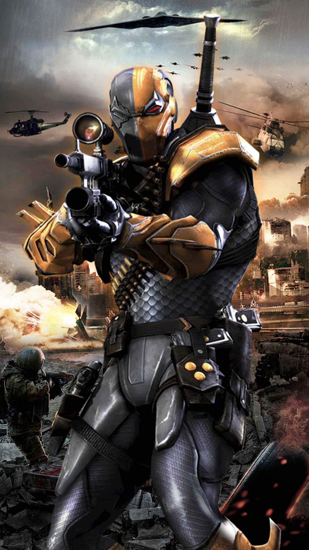DeathStroke Injustice Gods Among Us By JPGraphic