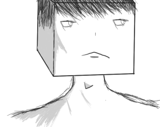 animeish square head guy thing (idk XD) by Ygtyk