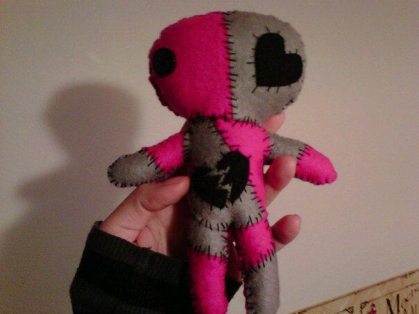 Pink and Black voodoo doll by CyndieBee on DeviantArt