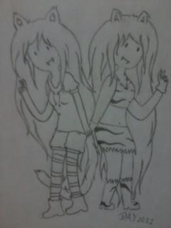 Kitty Pau and Kiki Kat by Flasho-D