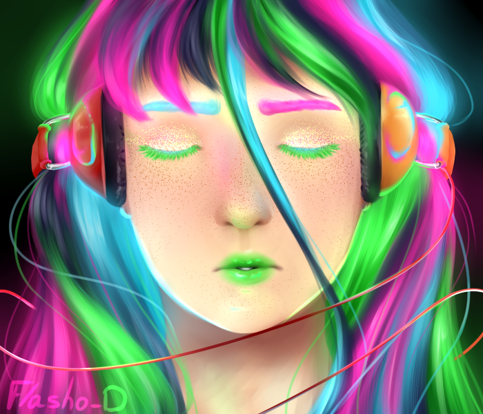 Neon Music by Flasho-D