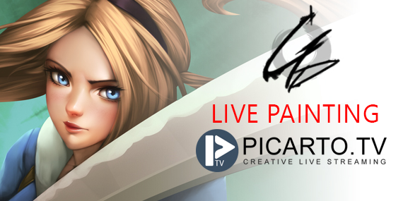 NOW LIVE PAINTING ON PICARTO.TV 14/06/2017 by GDecy