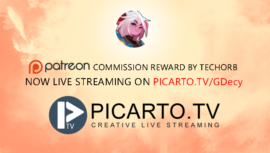 NOW LIVE PAINTING ON PICARTO.TV 23/06/2017 by GDecy