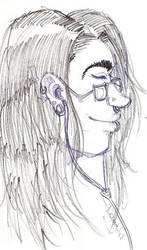Chris - long hair by skeletal-dee