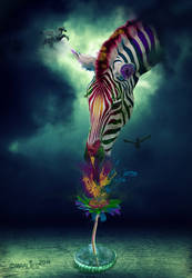 Zebra Composing by Draco-at-DeviantART